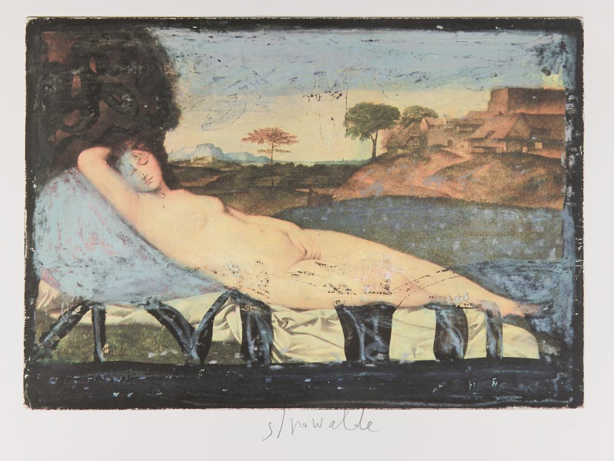 """Strawalde,Serie """"Schlummernde Venus"""", 1997,Bl. B3, Farboffset 3"""